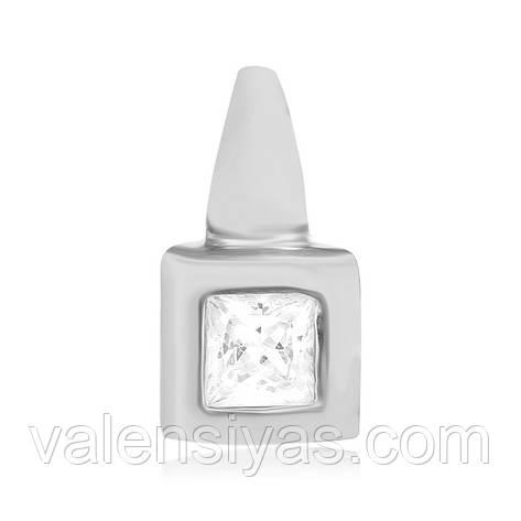 Срібний підвіс з квадратним каменем П2Ф/840, фото 2