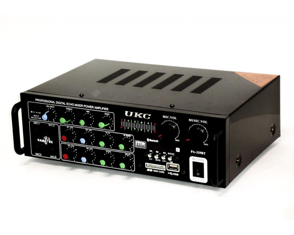 Усилитель звука 5-ти канальный UKC PA-329BT