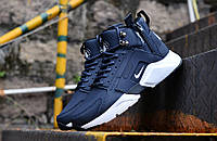 Мужские кроссовки Huarache X Acronym City MID Leather Blue