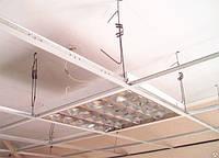 Монтаж конструкций подвесных и натяжных потолков