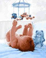 Картины по номерам 40×50 см. Новорожденный Художник Ричард Макнейл