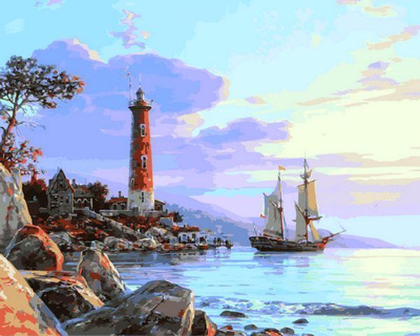 Картины по номерам 40×50 см. К далёким берегам Художник Валерий Черненко