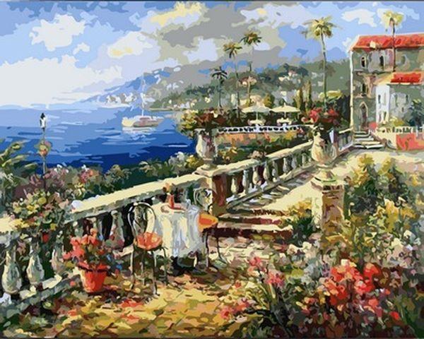 Картины по номерам 40×50 см. Средиземном море Художник Ким Сен