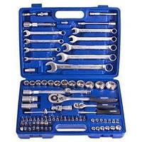 """Набор инструментов универсальный для ремонта Werker (UN-1082П), размеры 1/4"""" - 1/2"""", в кейсе, комплект инструм"""