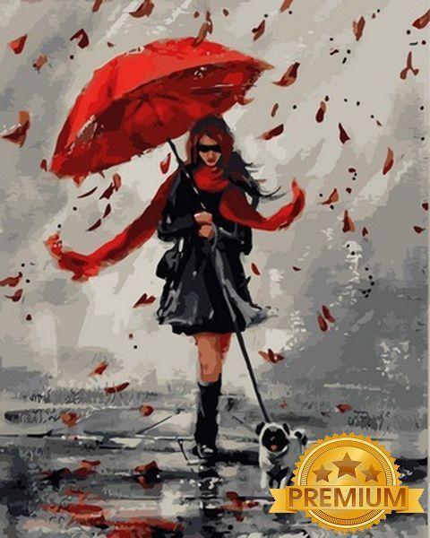 Картины по номерам 40×50 см. Babylon Premium Под зонтом