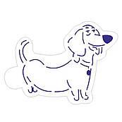 Трафарет Жизнь домашних животных-Бадди 8*6,4см
