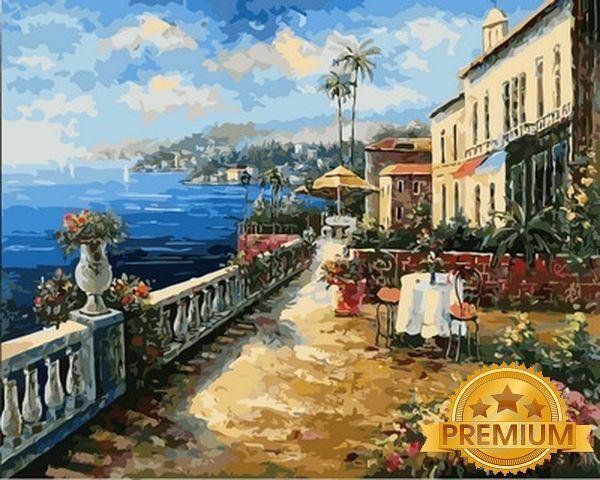 Картины по номерам 40×50 см. Babylon Premium Морской пейзаж Художник Ким Сен
