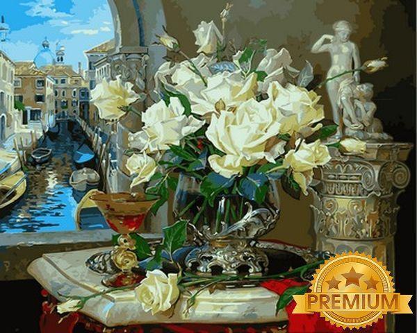 Картины по номерам 40×50 см. Babylon Premium Воспоминания о Венеции Художник Владимир Абат-Черкасов