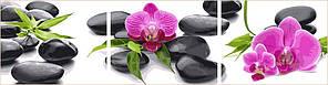 Картини за номерами 40х150 див. Триптих Орхідеї на каменях