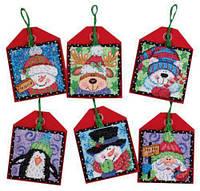 70-08842 Набор для вышивания крестом DIMENSIONS Рождественские украшения. Приятели