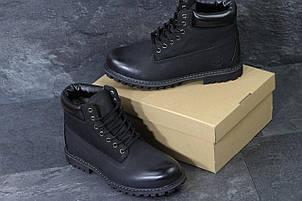 Мужские зимние ботинки Timberland,Тимберленд,черные, фото 2