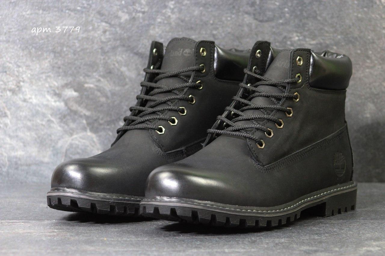 Мужские зимние ботинки Timberland,Тимберленд,черные