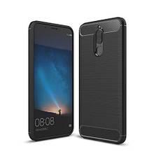 Чехол накладка TPU Fiber Carbon для Huawei Mate 10 Lite черный