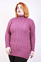 Теплый женский вязанный свитер с горлом оптом со склада Одесса , фото 1