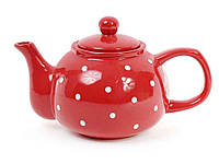 """Чайник 1000 мл, красный в белый горошек 593218 """"BONADI"""""""
