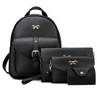 Стильный женский рюкзак с бантом 4 в 1, фото 1