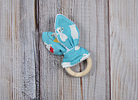 Эко-грызушка «Doubleeyes», белый мишка, фото 1