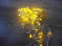 Гирлянда LED светодиодная на 200 лампочек желтого цвета 13 м