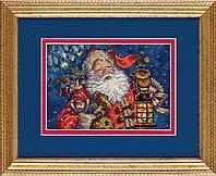 70-08865 Набор для вышивания крестом DIMENSIONS Ночной Санта