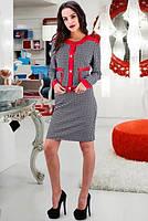 Стильный деловой костюм жакет с юбкой