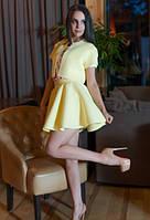 Стильный костюм ментолового цвета из неопрена