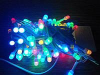Гирлянда светодиодная Жемчужные шарики на 100 LED Mix 8 м