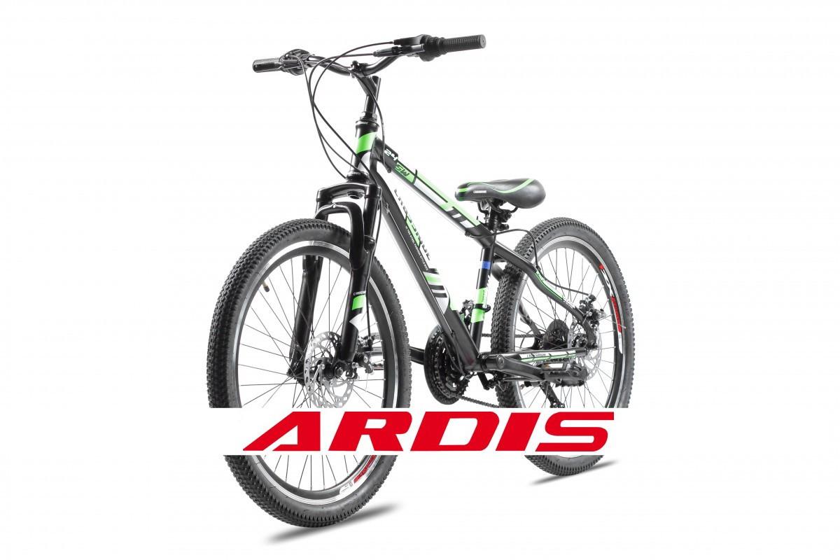 """Подростковый велосипед CROSSRIDE FLASH MTB 24"""" Черный/Зеленый"""