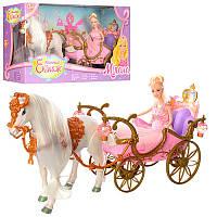Подарочный набор Кукла с каретой и лошадью розовая 209Вв коробке