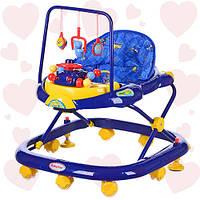 Детские ходунки JS 322 Bambi сине-желтые