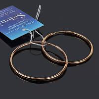 Позолоченные серьги кольца 38 мм