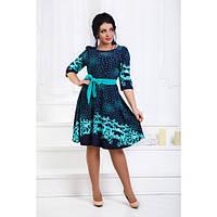 Красивое платье из трикотажа для дам приятной полноты (50-56)