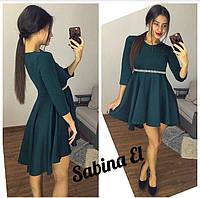 Платье с завышенной талией и расклешенной юбкой 23558