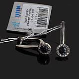 Серебряные серьги с камнями Классика, фото 5
