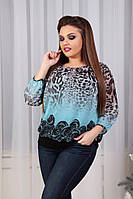 Женская блузка батал шифон 677 оптом