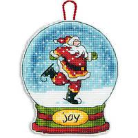 70-08905 Набор для вышивания крестом DIMENSIONS Рождественское украшение Снежный шар Радость