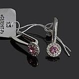 Серебряные серьги с камнями Классика, фото 8