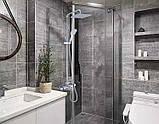 Душевая стойка в ванную со смесителем краном лейкой и верхним душем 0235, фото 4