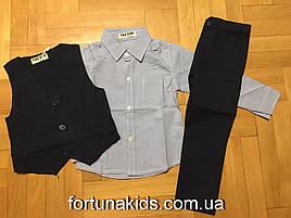 Костюм-тройка  для мальчиков F&D 1-5 лет