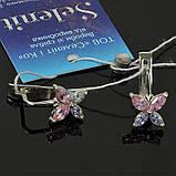 Серебряные серьги Бабочки с фианитами, фото 2