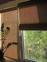 Бамбуковые натуральные оконные ролеты римской сборки
