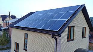 Поле солнечных панелей Amerisolar 260W на крыше частного дома г. Винница