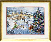 70-08919 Набор для вышивания крестом DIMENSIONS Зимние праздники