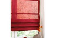 Римские шторы красного цвета на окно