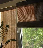 Римские шторы бамбуковые на окна