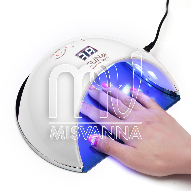 УФ лампа UV+LED SUN6s на 48 Вт для сушки геля и гель лака (white)