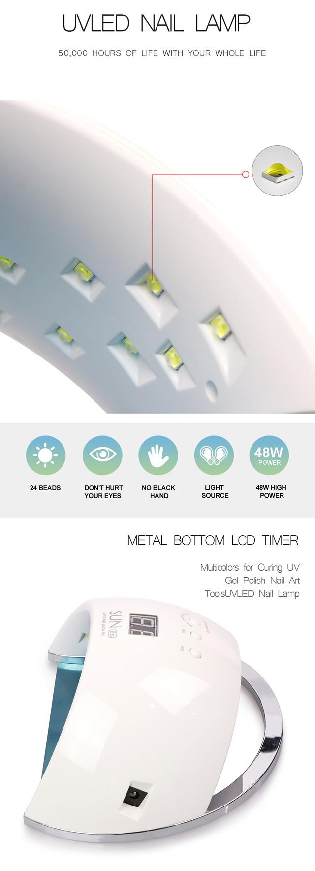 Лампа LED/UV 2in1 SUN6s на 48 Вт для геля и геля лака (white)