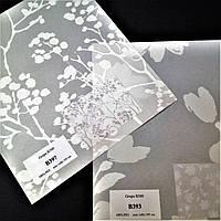 Ткань для тканевых роллет белая Растения  В 300