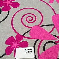 Ткань ролетная из полиэстра Цветы 5236