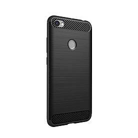 Чехол накладка для Xiaomi Redmi Note 5A Prime силиконовый IPAKY, Carbon Fibre, черный
