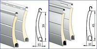 Ламели алюминиевые для защитных роллет РА-45мм, фото 1